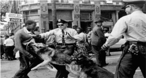The use of K-9s against peaceful civil rights protestors in the 1950s and 1960s.